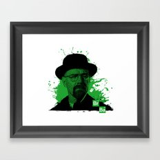 Breaking Bad Green Framed Art Print