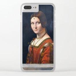 """Leonardo da Vinci """"La belle ferronnière"""" Clear iPhone Case"""