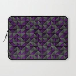 Tech Mosaic Purple Laptop Sleeve
