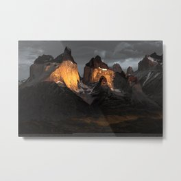Patagonia mountains Metal Print
