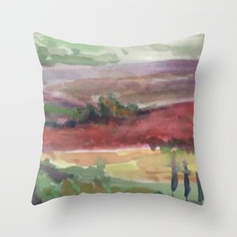 Fields of Sarlat Throw Pillow
