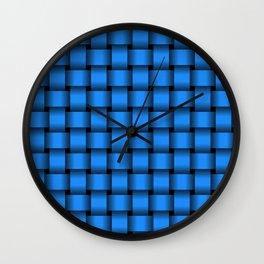 Dodger Blue Weave Wall Clock