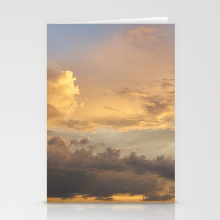Golden Skies Stationery Cards
