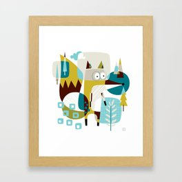 Fox in a box Framed Art Print