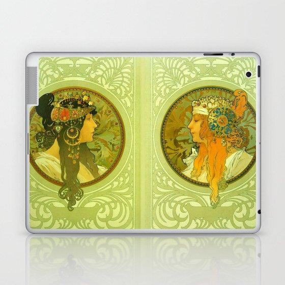"Alphonse Mucha ""Byzantine Heads: The Blonde and The Brunette"" Laptop & iPad Skin"