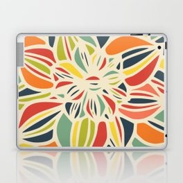 Vintage flower close up Laptop & iPad Skin
