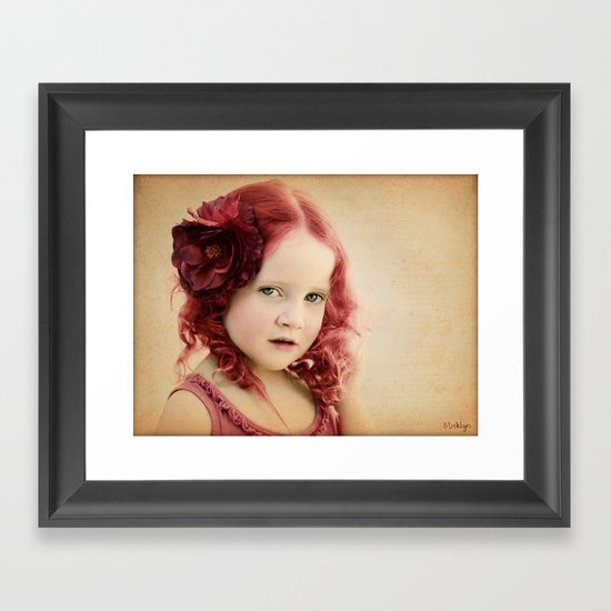Mila as a Vintage Rose Framed Art Print