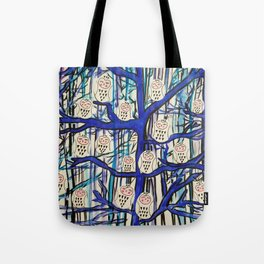 Snow Owl Forest Tote Bag