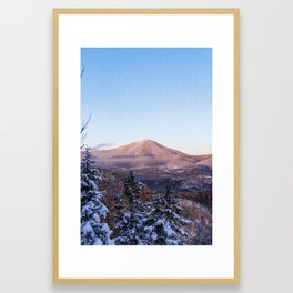 Alpenglow on Whiteface, Adirondack Mountains, 46 High Peaks Framed Art Print