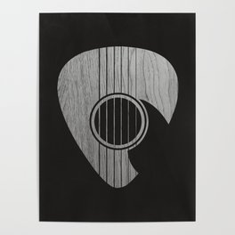 Strum... (White on Black) Poster