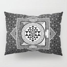 Sri Yantra Black & White Sacred Geometry Mandala Pillow Sham