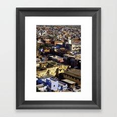 Jaipur Cityscape Framed Art Print