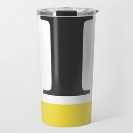 Monogram Letter I-Pantone-Buttercup Travel Mug