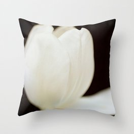 Artitstic white tulip II Throw Pillow
