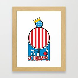 Fat Boy - Patriotic Framed Art Print