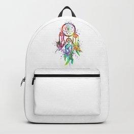 Dreamcatcher Art Colorful Watercolor Art Gift Dreamy Art Backpack