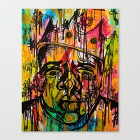 notorious Canvas Prints featuring Notorious  by Lauren Mair