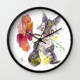 Thumper With Flower Wall Clock