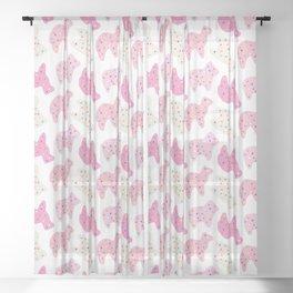 Animal Cookies - Multi Sheer Curtain