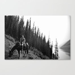 Man on a Horse Canvas Print
