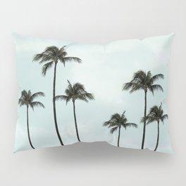 Palm Tree | Landscape Photography | Sunset Clouds | Blue Sky | Minimalism Pillow Sham