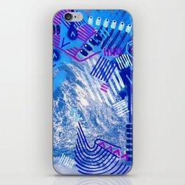 Wave Blue II iPhone Skin