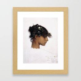 John Singer Sargent - Rosina Ferrara, Head of a Capri Girl Framed Art Print