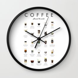 Coffee Chart - Around The World Wall Clock