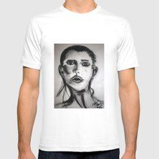Drawing 1 White Mens Fitted Tee MEDIUM