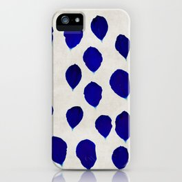 blue blossom iPhone Case