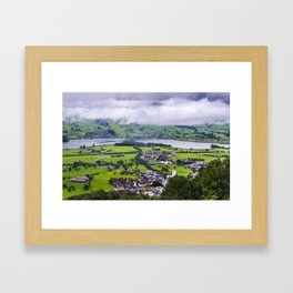 Lauerzersee During Storm - Schwyz Canton Framed Art Print