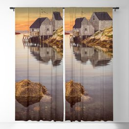 Peggy's Cove Harbor at Sunset in Nova Scotia Blackout Curtain