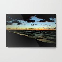 Lake Michigan Seascape Sunset Metal Print