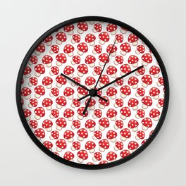 Cute Mushrooms Wall Clock