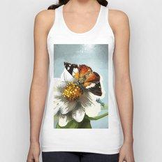Butterfly on flower 12 Unisex Tank Top