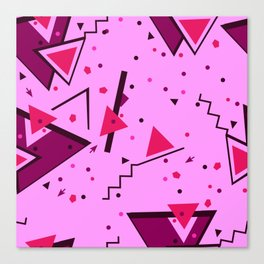 Pink Error Canvas Print