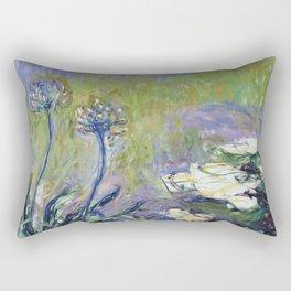 Claude Monet - Agapanthus Rectangular Pillow