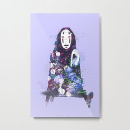 No Face in the Garden (Purple) Metal Print