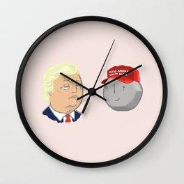 Trump Rock Wall Clock