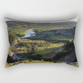 Photos USA Theodore Roosevelt National Park Nature park Meadow Forests landscape photography Rivers Parks forest Scenery Grasslands river Rectangular Pillow