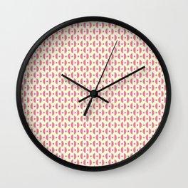 Sweet Pink & Green Watermelon Slices Pattern Wall Clock