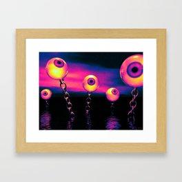 Pop Art Eyes Seascape Framed Art Print