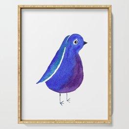 Little Dark blue Bird Serving Tray