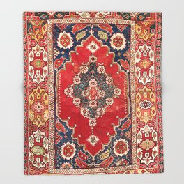 Transylvanian Manisa West Anatolian Niche Carpet Print Throw Blanket