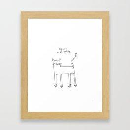 A-hole cat Framed Art Print