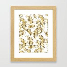 Golden palms Framed Art Print