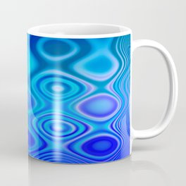 Dots in Motion (watery blues) Coffee Mug