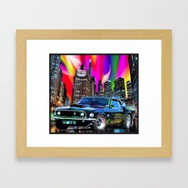 colorful muscle Framed Art Print