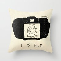 film Throw Pillows featuring I Love Film by Farnell