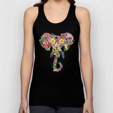 Flower Elephant Watercolor Unisex Tank Top